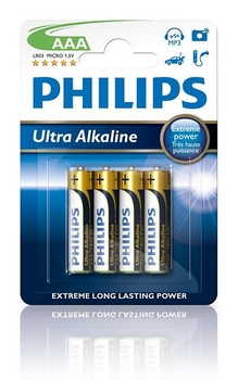 Philips Extremelife Microzelle LR03 1,5V AAA (4)