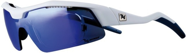 720Armour Sportbrille Tack-RX - Matte Weiß / Smoke Lens