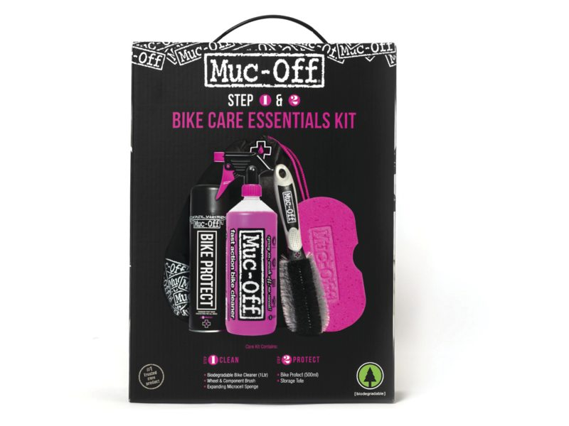 Muc-Off Pflegeset Essentials Kit 4-Teilig + Beutel