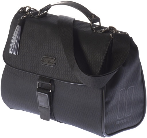 Basil Noir Lenkertasche Inkl. Adapterplatte - Midnight Black