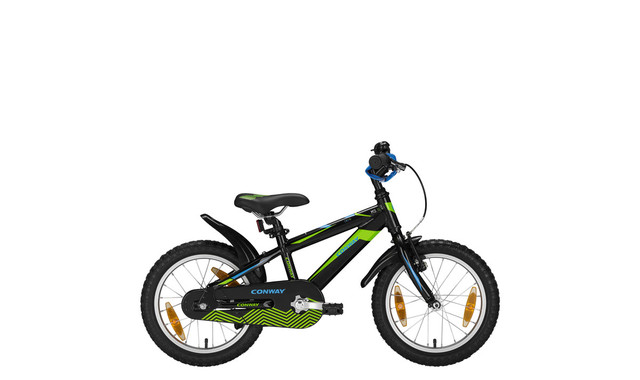 Conway MTB MS16 Diamant 16 Zoll 23cm Schwarz/Lime