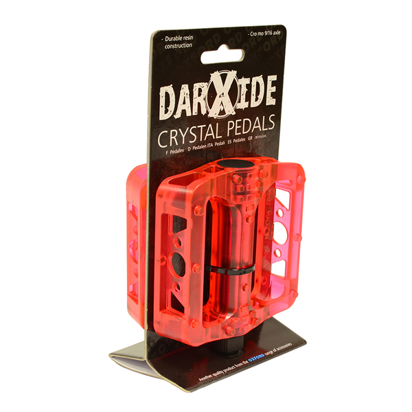 OXC BMX Pedal Crystel Resin - Rot