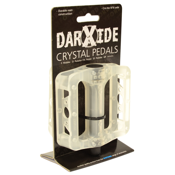OXC BMX Pedal Crystel Resin - Weiß