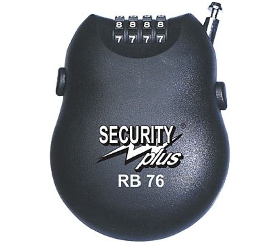 Security Plus Roll-Back Cijfer-Kabelslot RB76 100cm Schwarz
