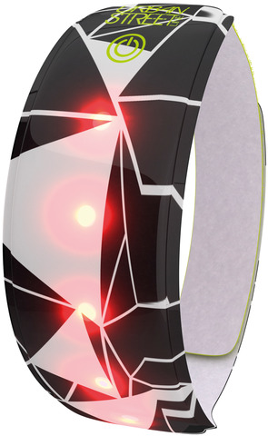 WOWOW Reflexband Urban Street Line 37cm 5 Rote LED-Lampen