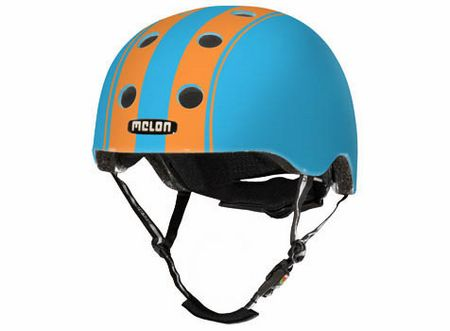 Melon Helm Double Orange/Blau Größe XXS/S (46-52cm)